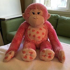"""Build a bear monkey & hearts. 17"""" head to toe"""